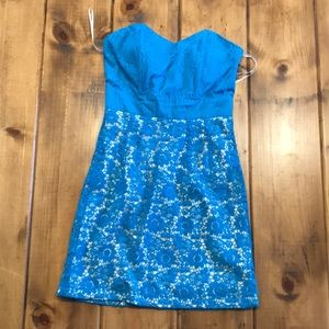 Blue mod cloth dress